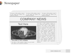Newspaper Ppt PowerPoint Presentation Professional