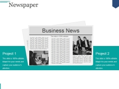 Newspaper Ppt PowerPoint Presentation Show Introduction