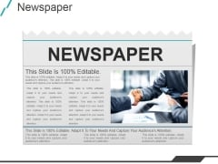 Newspaper Ppt PowerPoint Presentation Template