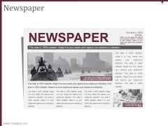 Newspaper Ppt PowerPoint Presentation Themes