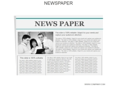 Newspaper Ppt PowerPoint Presentation Topics