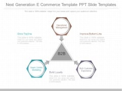 Next Generation E Commerce Template Ppt Slide Templates
