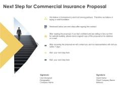 Next Step For Commercial Insurance Proposal Ppt Powerpoint Presentation Model Example