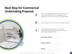 Next Step For Commercial Undertaking Proposal Ppt Inspiration PDF