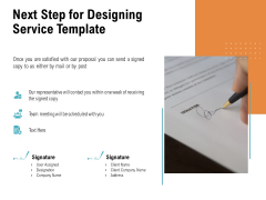 Next Step For Designing Service Template Ppt PowerPoint Presentation Icon Portfolio