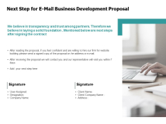 Next Step For E Mail Business Development Proposal Technology Ppt PowerPoint Presentation Icon Samples