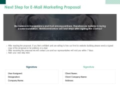 Next Step For E Mail Marketing Proposal Ppt PowerPoint Presentation Outline Design Templates