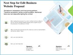 Next Step For Edit Business Website Proposal Ppt Portfolio