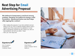 Next Step For Email Advertising Proposal Ppt Icon Master Slide PDF
