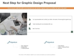 Next Step For Graphic Design Proposal Ppt PowerPoint Presentation Ideas Designs Download