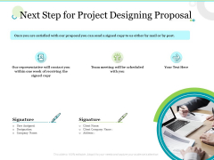 Next Step For Project Designing Proposal Ppt Portfolio Rules PDF