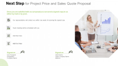 Next Step For Project Price And Sales Quote Proposal Structure PDF