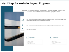 Next Step For Website Layout Proposal Ppt PowerPoint Presentation Gallery Information