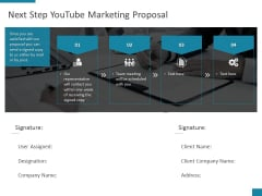 Next Step Youtube Marketing Proposal Ppt PowerPoint Presentation Infographics Clipart Images