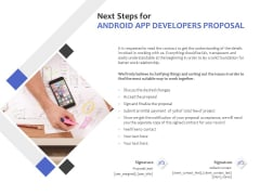 Next Steps For Android App Developers Proposal Ppt PowerPoint Presentation Inspiration Pictures
