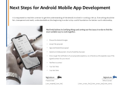 Next Steps For Android Mobile App Development Ppt PowerPoint Presentation Infographic Template Example