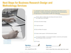 Next Steps For Business Research Design And Methodology Services Inspiration PDF