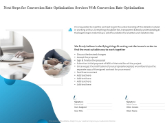 Next Steps For Conversion Rate Optimization Services Web Conversion Rate Optimization Download PDF