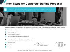 Next Steps For Corporate Staffing Proposal Ppt PowerPoint Presentation Slides Designs Download