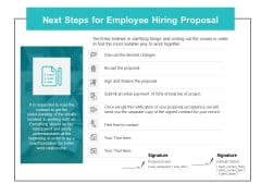 Next Steps For Employee Hiring Proposal Ppt PowerPoint Presentation Summary Design Templates