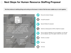 Next Steps For Human Resource Staffing Proposal Ppt PowerPoint Presentation File Design Ideas