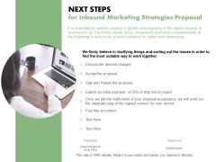 Next Steps For Inbound Marketing Strategies Proposal Ppt PowerPoint Presentation Icon Elements