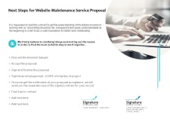 Next Steps For Website Maintenance Service Proposal Ppt PowerPoint Presentation Slides Graphics