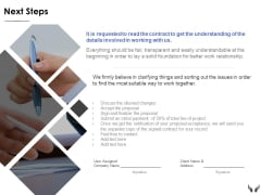 Next Steps Marketing Ppt Powerpoint Presentation Infographics Deck