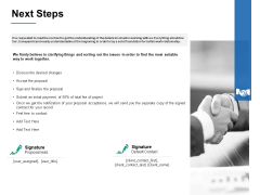 Next Steps Ppt PowerPoint Presentation Outline Slide