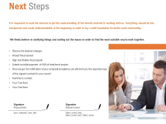Next Steps Ppt PowerPoint Presentation Outline Slides