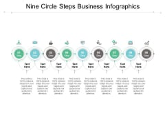 Nine Circle Steps Business Infographics Ppt PowerPoint Presentation Shapes