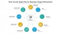 Nine Circular Steps Plan For Business Target Achievement Ppt Powerpoint Presentation Gallery Master Slide PDF