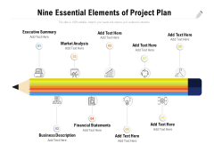 Nine Essential Elements Of Project Plan Ppt PowerPoint Presentation Styles Ideas