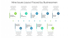Nine Issues Layout Faced By Businessmen Ppt PowerPoint Presentation Icon Slides PDF