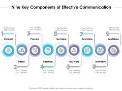 Nine Key Components Of Effective Communication Ppt PowerPoint Presentation Model Inspiration PDF