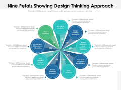 Nine Petals Showing Design Thinking Approach Ppt PowerPoint Presentation Information PDF