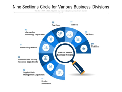 Nine Sections Circle For Various Business Divisions Ppt PowerPoint Presentation Gallery Brochure PDF