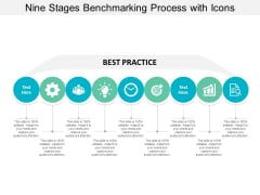 Nine Stages Benchmarking Process With Icons Ppt Powerpoint Presentation Infographics Information
