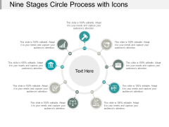 Nine Stages Circle Process With Icons Ppt PowerPoint Presentation Pictures Grid