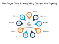 Nine Stages Circle Showing Selling Concepts With Targeting Ppt PowerPoint Presentation File Example PDF