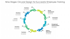 Nine Stages Circular Design For Successful Employee Training Ppt PowerPoint Presentation Gallery Graphics Pictures PDF
