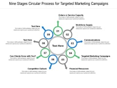 Nine Stages Circular Process For Targeted Marketing Campaigns Ppt PowerPoint Presentation Professional Ideas