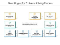 Nine Stages For Problem Solving Process Ppt PowerPoint Presentation Professional Example Introduction PDF