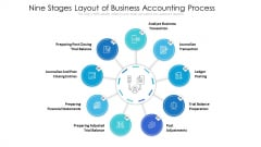 Nine Stages Layout Of Business Accounting Process Ppt PowerPoint Presentation Icon Layouts PDF