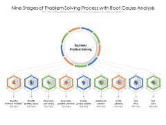 Nine Stages Of Problem Solving Process With Root Cause Analysis Ppt PowerPoint Presentation Slides Clipart PDF