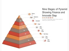Nine Stages Of Pyramid Showing Finance And Innovate Step Ppt PowerPoint Presentation Gallery Slideshow PDF