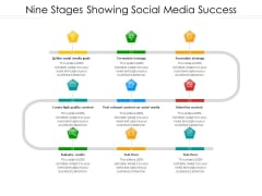 Nine Stages Showing Social Media Success Ppt PowerPoint Presentation Layouts Layouts PDF