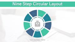 Nine Step Circular Layout Sales Goals Ppt PowerPoint Presentation Complete Deck With Slides