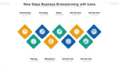 Nine Steps Business Brainstorming With Icons Ppt Powerpoint Presentation File Layout Ideas PDF