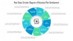 Nine Steps Circular Diagram Of Business Plan Development Ppt Infographics Format PDF